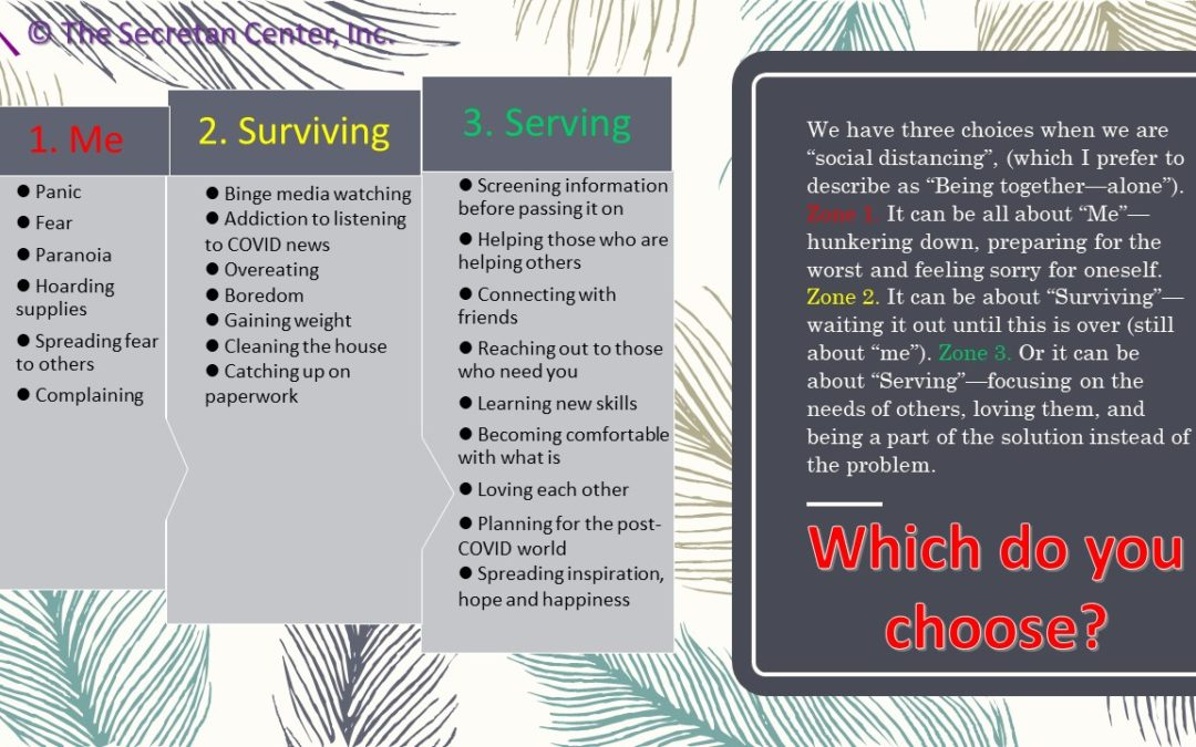 How Will You Choose to Be During Your COVID Quarantining?